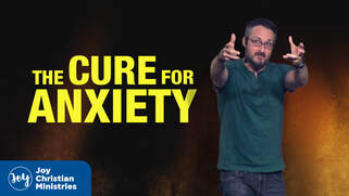 Pastor Brandon Myers sermon series at Joy Christian Church in West Sacramento about  carrying the weight of the world and the cure for anxiety